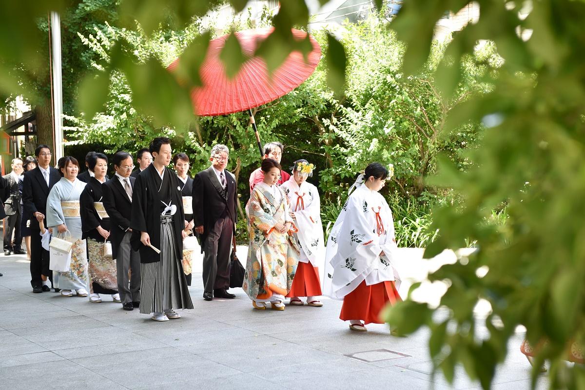 「神楽坂 赤城神社」での神前式※神社での挙式も完全サポート致します