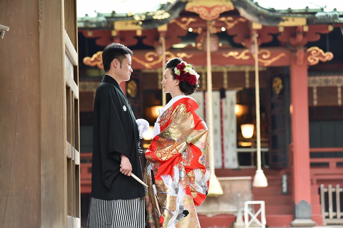 「赤坂 氷川神社」での神前式※神社での挙式も完全サポート致します