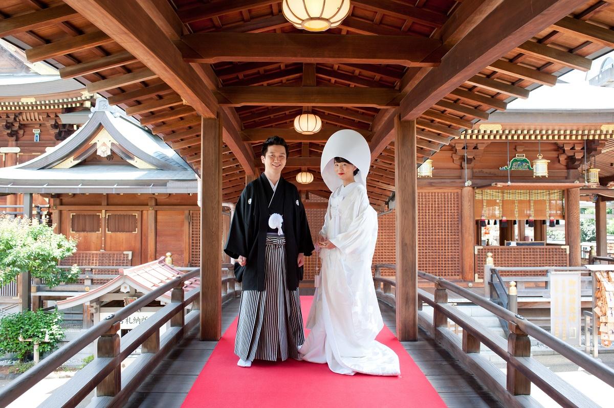 「湯島天満宮」での神前式※神社での挙式も完全サポート致します
