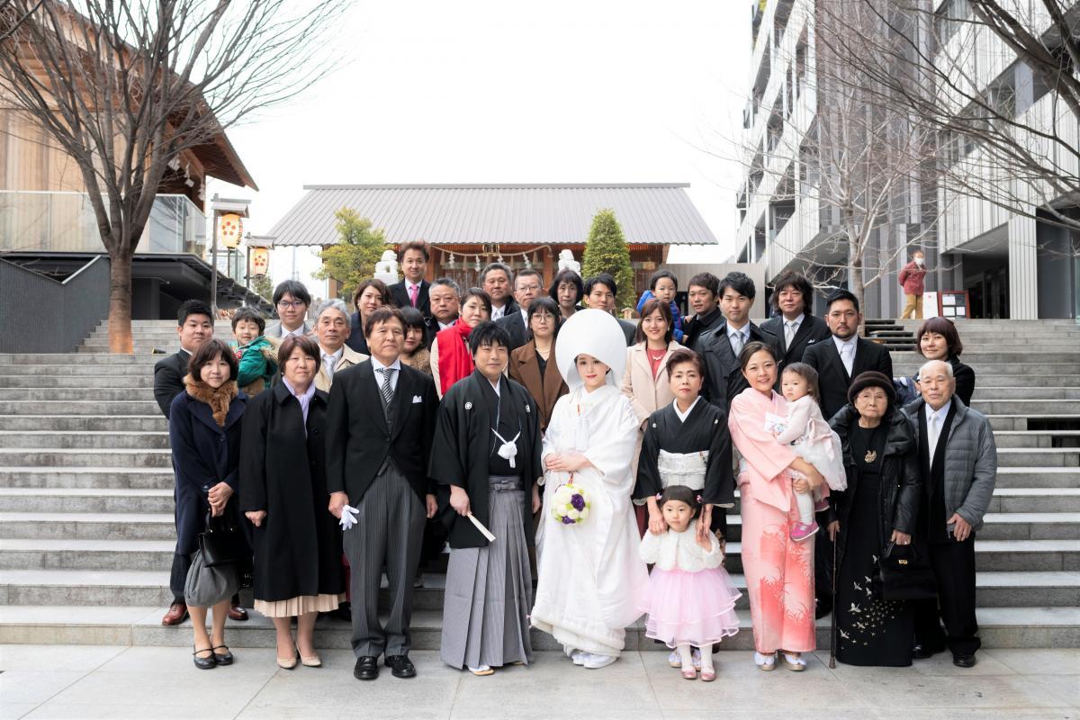 【近隣:赤城神社】親族で集合写真も撮影致します