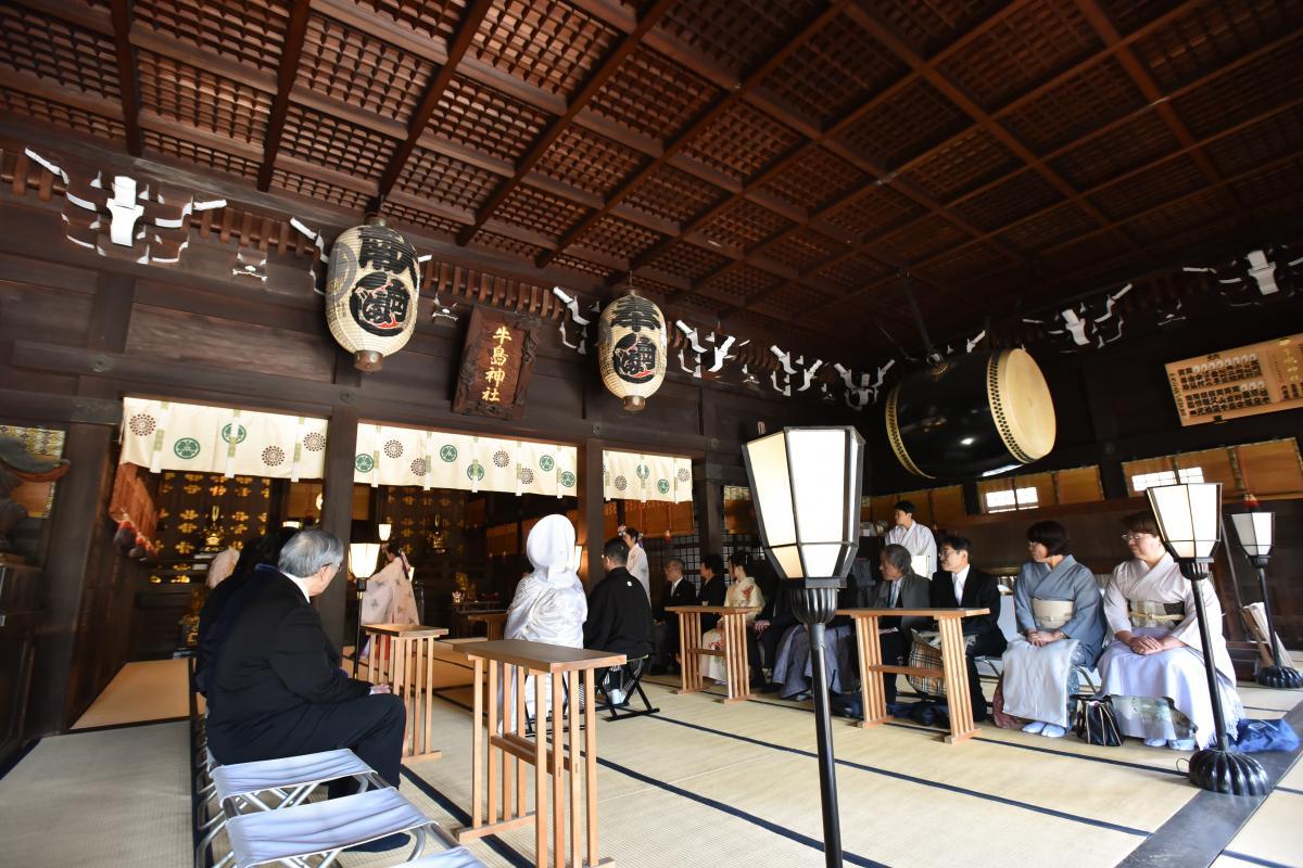 【神社挙式/牛嶋神社】スカイツリーのふもと、東京屈指の大社殿で由緒正しいお式が執り行えます。