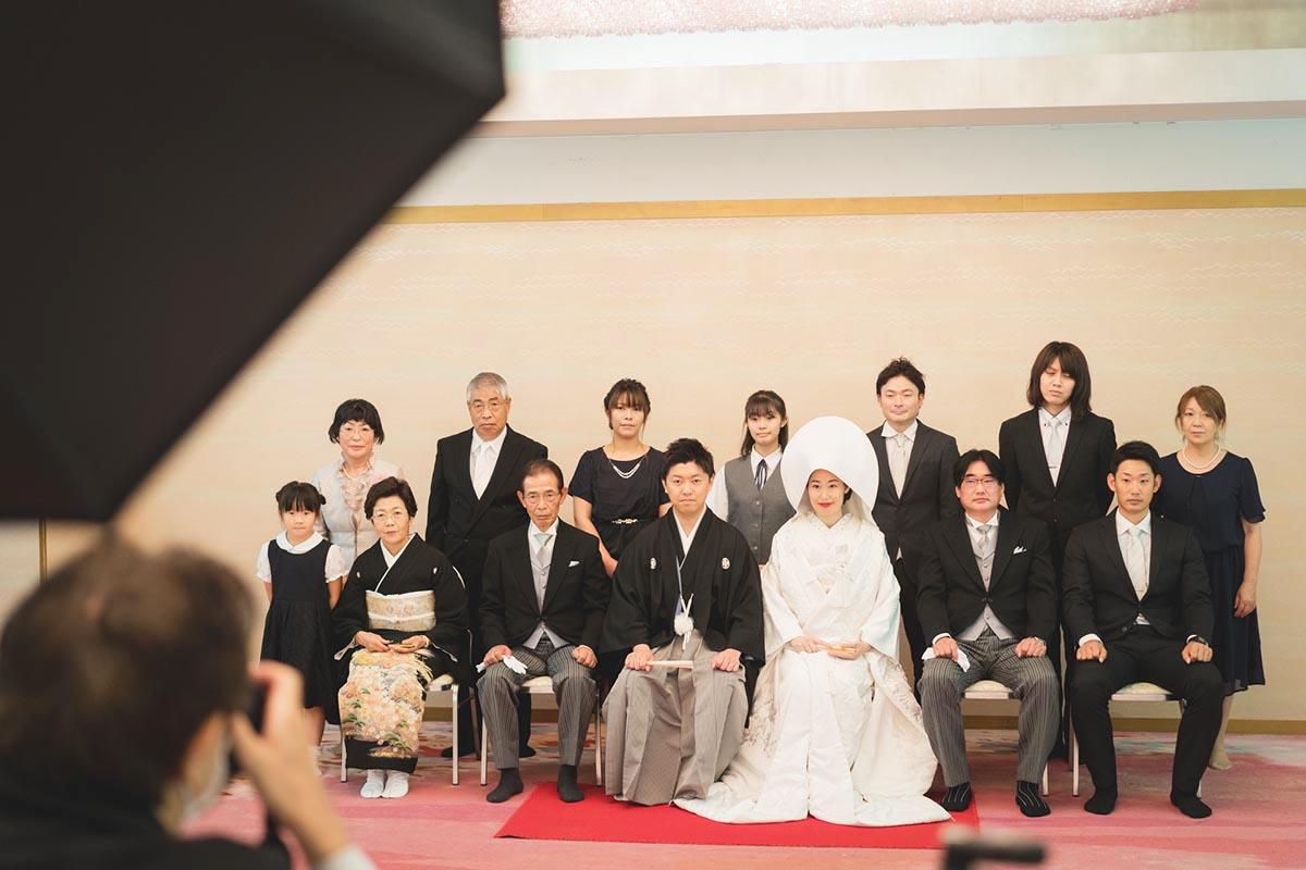 湯島天神にて親族集合写真を撮影