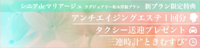 シニアdeマリアージュ★和&洋装プラン -
